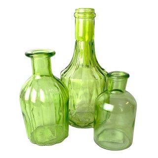 Glas Vasen im 3er Set Hellgrün