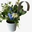 Deko Vintage Blumentopf mit Henkel Lila