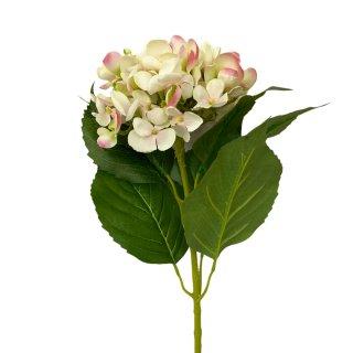 Deko Hortensie weiß rosa