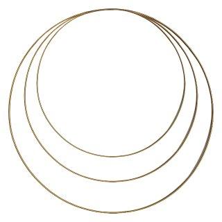 Deko Blumen-Ringe gold im 3er Set