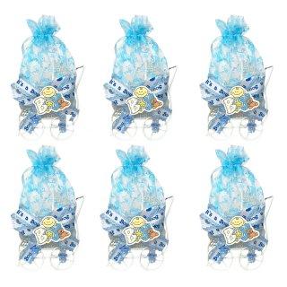 """Baby-Gastgeschenk Kinderwagen blau """" It`s a Boy """" 6er Set"""
