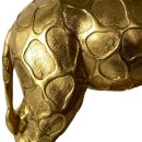 Exklusive Tischlampe Giraffe gold/schwarz