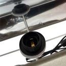 Exklusive Tischlampe Dackel grau/anthrazit