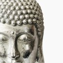 Großer Buddha Kopf silber