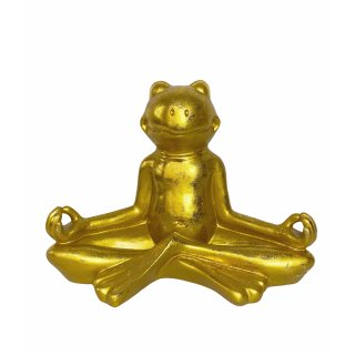Yoga-Frosch gold