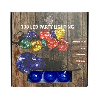 Bunte LED Glühbirnen Lichterkette  4,5m