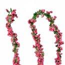 Dekorative Beerengirlande pink 270 cm