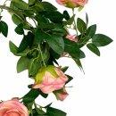 Rosen-Girlande Altrosa 180 cm