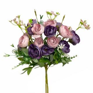 Pfingstrosen-Strauß im 2er Set lila
