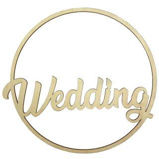 """Holz-Schild """"Wedding"""" natur"""