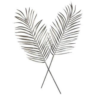 Silberne Palmenblätter im 2er Set