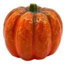 Herbst Deko Kürbis aus Ton orange