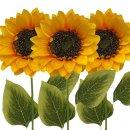 Kunst-Blumen Sonnenblumen im 3er Set ca. 56 cm