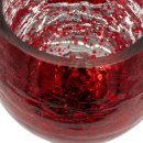 Kerzenständer / Glaspokal / Kelch rot glänzend  im 3er Set