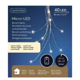 Micro Lichterbündel 40 LED ca. 65 cm warmweiss