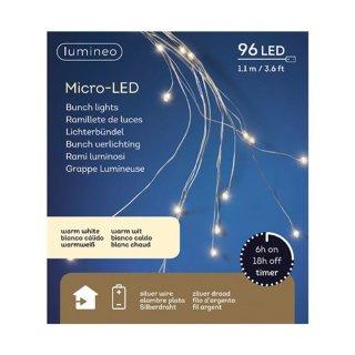 Micro Lichterbündel 96 LED ca. 110 cm warmweiss